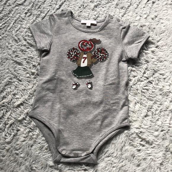 00135cb60 Gucci Shirts & Tops | New Baby Girl Bodysuit Onesie Top 36 M Logo ...